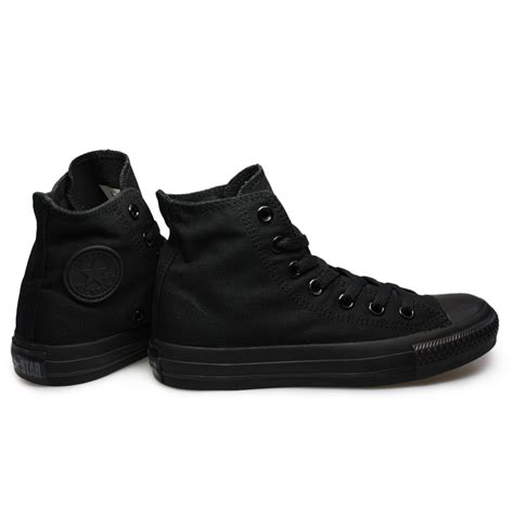 mens all black sneakers converse all black hi tops mens womens trianers