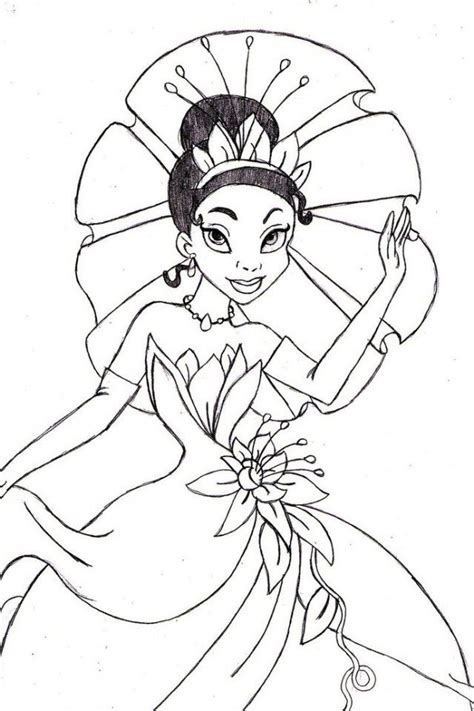 princess tiana coloring pages az coloring pages