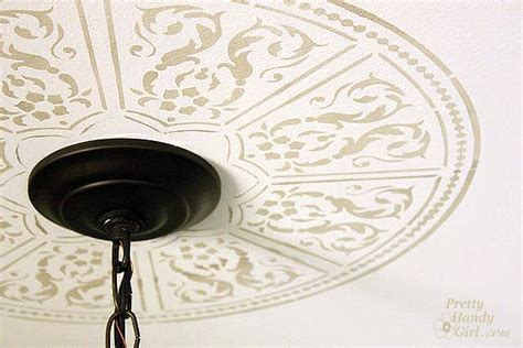 Ceiling Stencil by Creating A Faux Ceiling Medallion With Cutting Edge