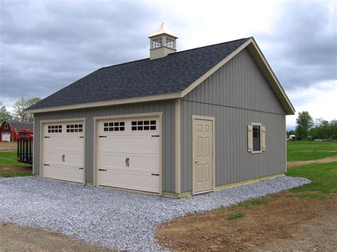24x24 Two Car Garage the shed place
