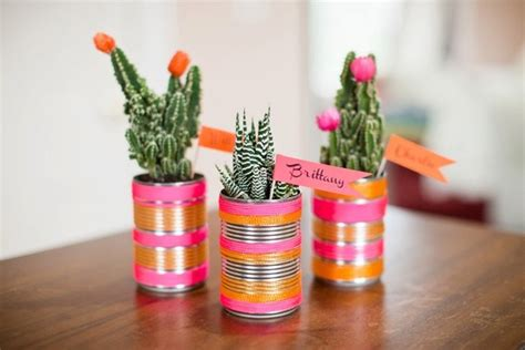 Can Decoration Ideas by 20 Tin Can Craft Ideas Flower Vases And Plant Pots