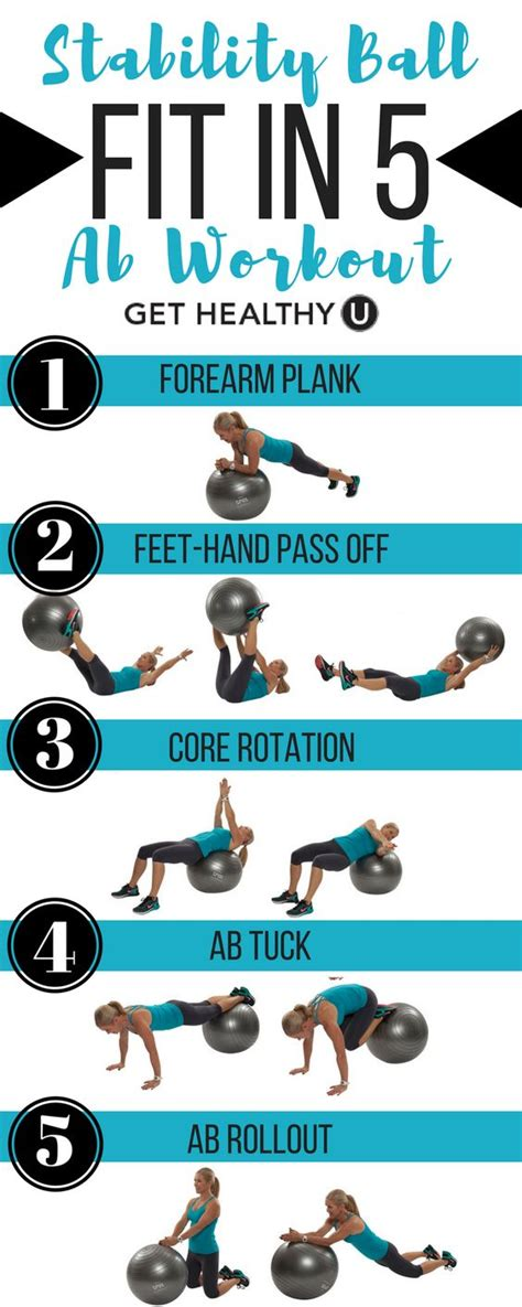printable exercise ball workouts for beginners fit in these 5 ab exercises to strengthen your core and