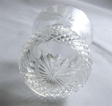 pattern cutter edinburgh vintage edinburgh shot glass thistle pattern cut glass