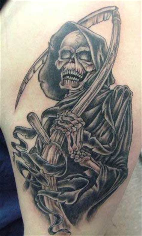 death tattoos grim reaper tattoos themes and meanings