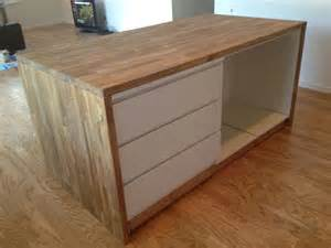 2x4 Kitchen Cabinets 25 Best Ideas About Ikea Island Hack On Breakfast Bar Legs Expedit Bookcase And