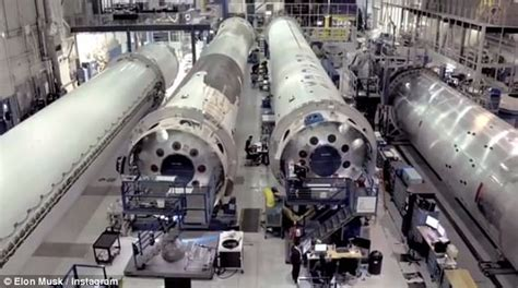 elon musk factory inside the falcon factory musk posts amazing drone tour