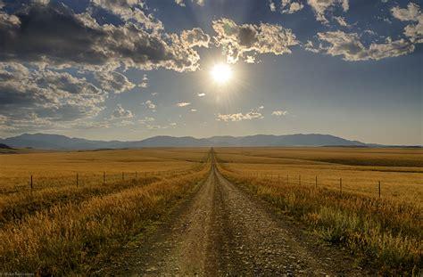 Landscape Photography Roads Montana Farm Road Tau Zero