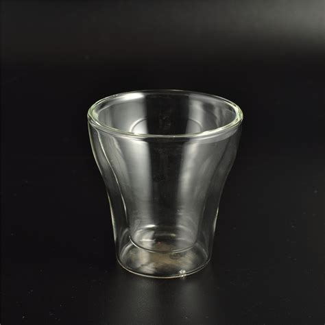 borosilicate glass borosilicate glass wall glass cup for beverage