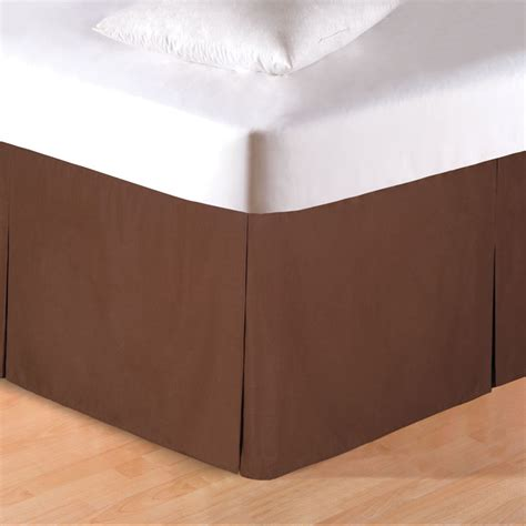 brown bed skirt western bedding king size brown pleated bedskirt lone