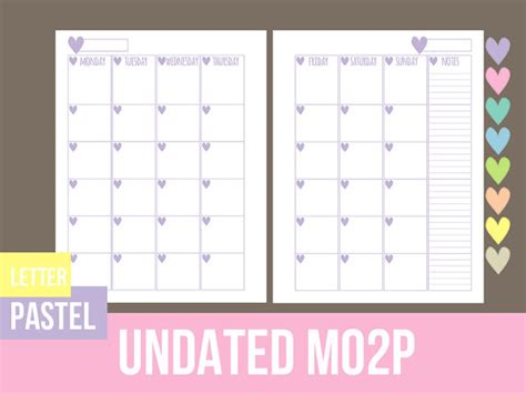 printable calendar letter size monthly calendar mo2p letter size printable by