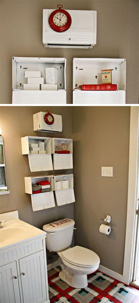 Gallery of diy above toilet storage