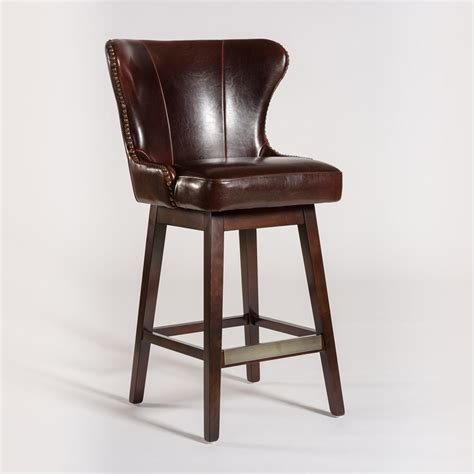 Swivel Bar Stools Leather Seat by Belfort Leather Rockwell Upholstered Leather Bar Stool