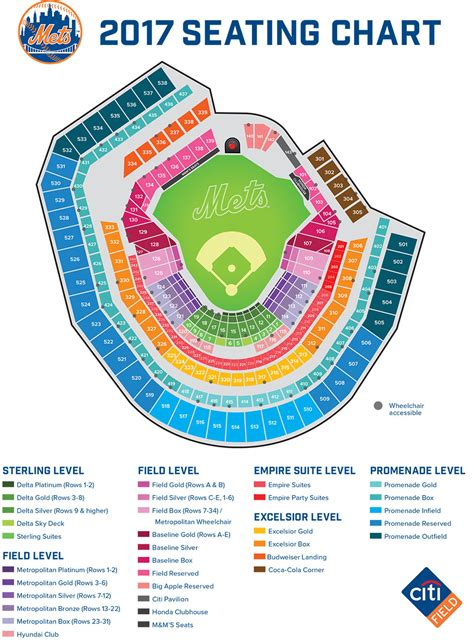 citi field seating map citi field seating map mlb