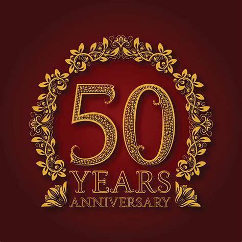 Best 50th Wedding Anniversary Illustrations, Royalty Free