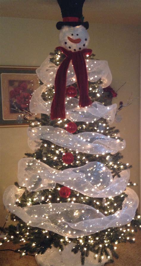 our snowman christmas tree christmas trees pinterest