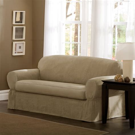 twill slipcovers classic slipcovers brushed twill loveseat slipcover