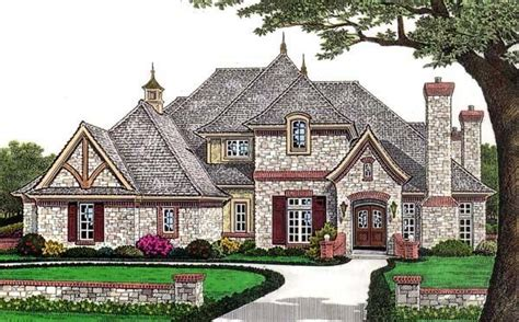 French European House Plans | european french country house plan 66110
