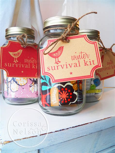 winter survival kit tags  printable corissa nelson