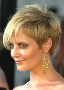 Short hairstyles for round faces with fine thin hair