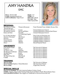 actor resume templates 1000 images about resume exles on theater