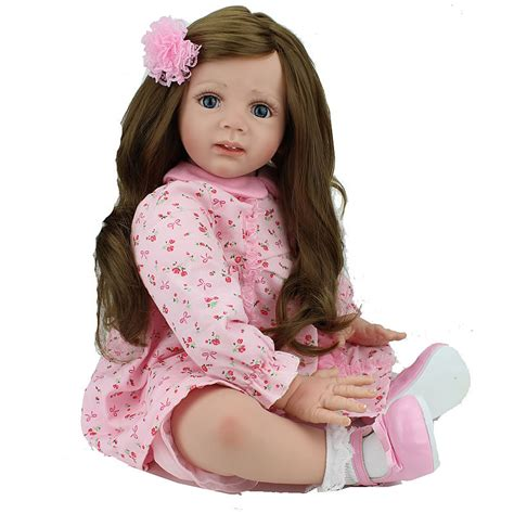 big dolls house baby reborn dolls silicone toddler little girl doll big 24 inch collectible adora doll