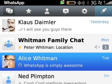 tutorial whatsapp para blackberry whatsapp presenta una versi 243 n para blackberry 10
