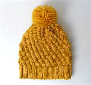 pom pom wool knitting patterns alpaca wool pom pom knit hat chunky beanie mustard