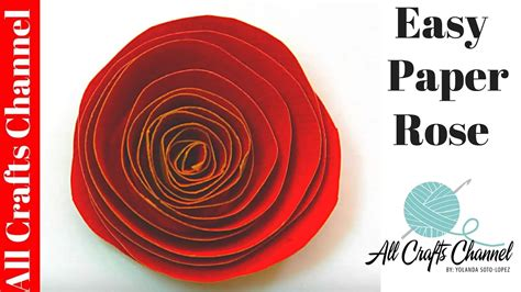 How To Make Paper Roses Easy - how to make an easy paper