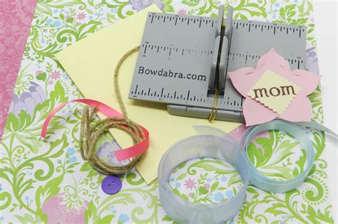 mothers day card to make make a s day card with mini bowdabra bow bowdabra