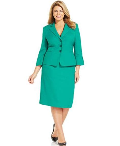 Macy S Gift Card Not Working Online - le suit plus size three button skirt suit wear to work women macy s