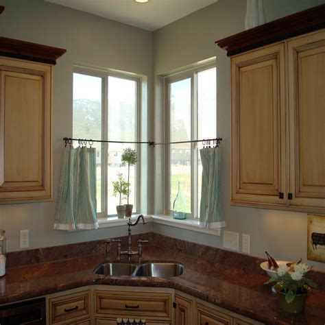 curtain ideas for small kitchen window treatments with