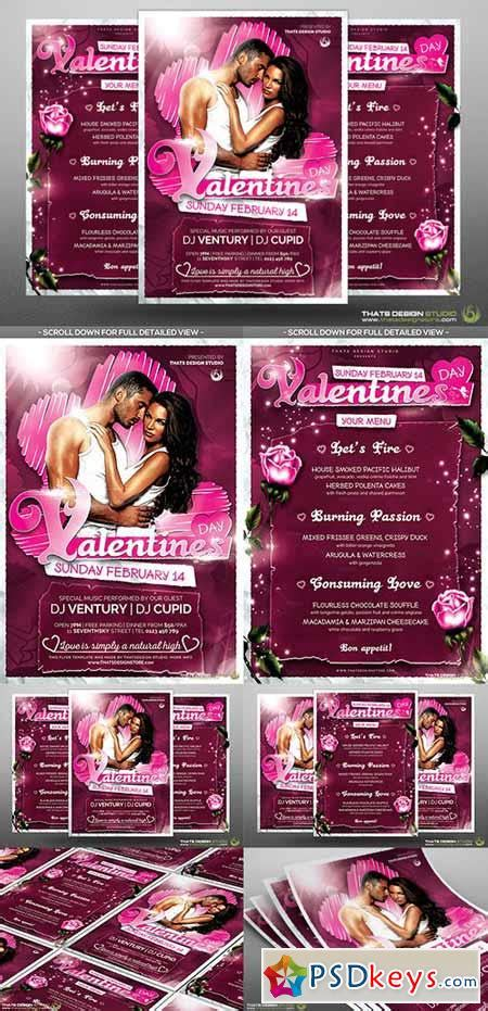 valentines day flyer menu bundle v7 492059 187 free