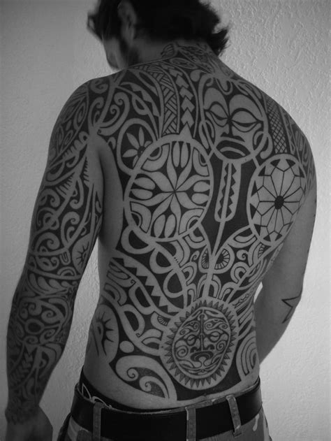 full back tribal tattoo back polynesian tribal tattoos for tattooshunt