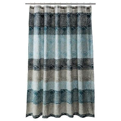 target brown shower curtain shower curtains scallops and curtains on pinterest