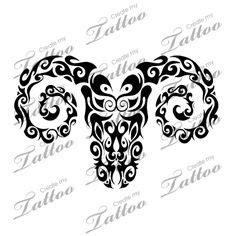 tribal brown ink aries design tribal brown ink aries design matthew