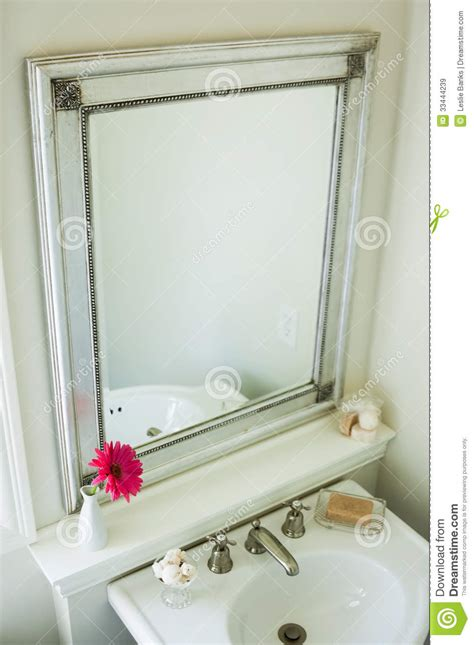 Bathroom Mirror Royalty Free Stock Images Image 33444239 Bathroom Sink With Mirror