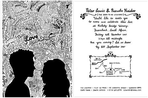 doodle untuk pernikahan ingin pernikahanmu berkesan 10 kartu undangan tema sketsa