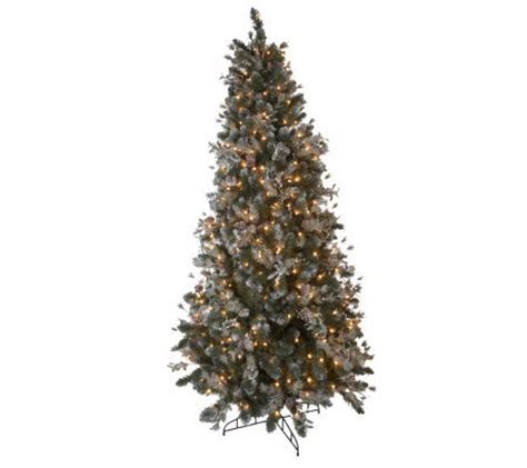 bethlehem lights 7 5 frosted mistletoe christmas tree