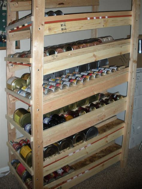 diy storage shelves food storage rotation shelf plans diy honey i want pint