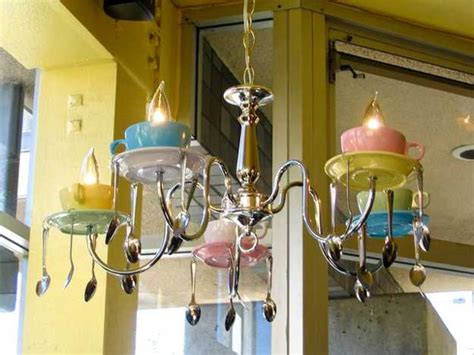 unique kitchen light fixtures 21 unique lighting design ideas recycling tableware and