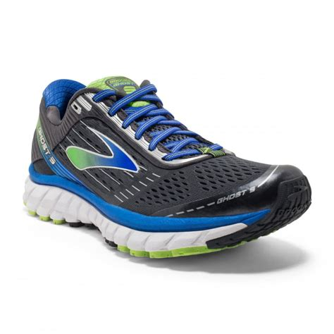best mens running shoes for wide the ghost 9 in anthracite and blue in 2e width for