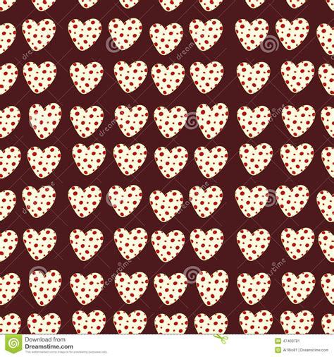 dot pattern heart heart with polka dots stock vector image 47403781