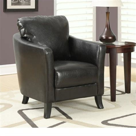 brown faux leather accent chair faux leather accent chair in brown i 8020
