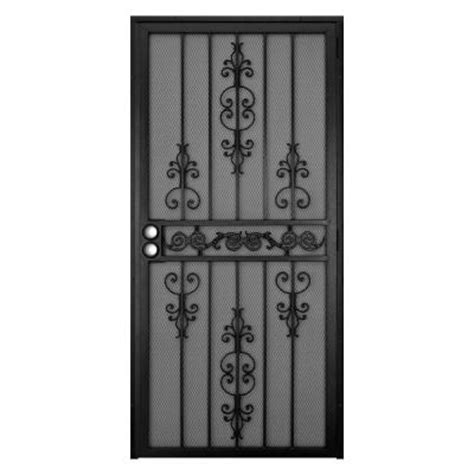 security screen doors metal security screen doors home depot