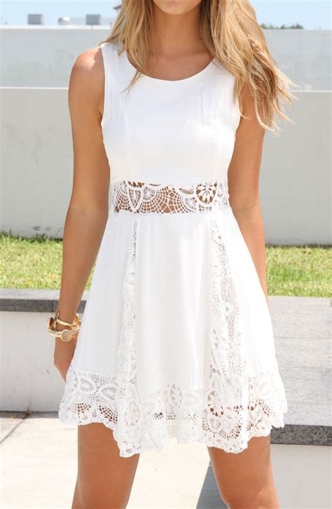 30580 Lace Dress White white lace dress