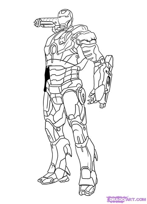 how to draw war machine step by step marvel characters