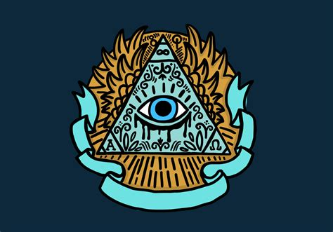 illuminati eye pyramid illuminati eye pyramid free vector stock