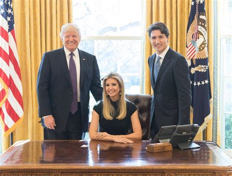 trump white house residence photo of ivanka trump sitting in presidents chair stirs
