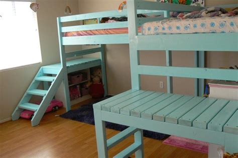 build  loft bed  stairs diy projects