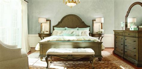 renaissance bedroom furniture renaissance waxed oak arched panel bedroom set from legacy
